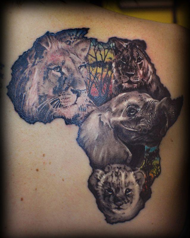 Beautiful Africa Tattoo