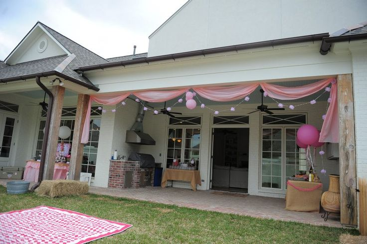 Gorgeous backyard party decorations! Party by @Lauren Haddox DESIGN