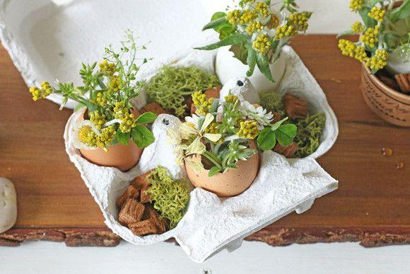 ダイソー商品と卵パックと卵の殻でイースターアレンジ|La 雑草 アトリエ・ボヌール公式ブログ