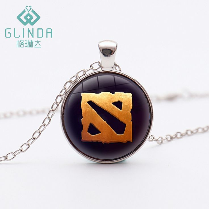 Glinda Popular Online Games Dota 2 Logo Silver Plated Necklace Dota 2 Antique Bronze Pendants Handmade Charms Jewelry