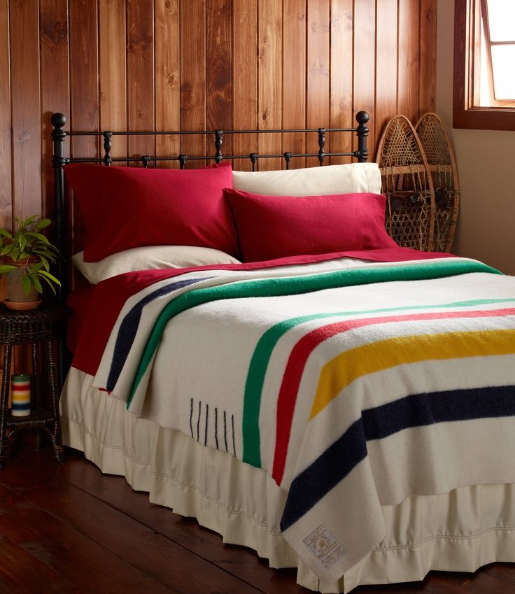 I've always wanted a Hudson Bay blanket. And maybe a big feather bed in a cozy log cabin on which to put it.