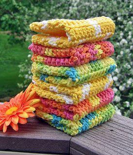 Just Make It: Handmade By Annabelle: 8 Steps to Beautiful Crochet Washcloths. Beautiful! Pattern here: http://handmadebyannabelle.blogspot.com/2010/04/crochet-pattern-not-your-grandmas.html ☀CQ #crochet