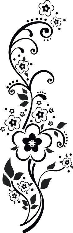 http://flowerillust.com/img/flower/flower4937.png*vector*  //  Fleurs Arabesques, Fioritures