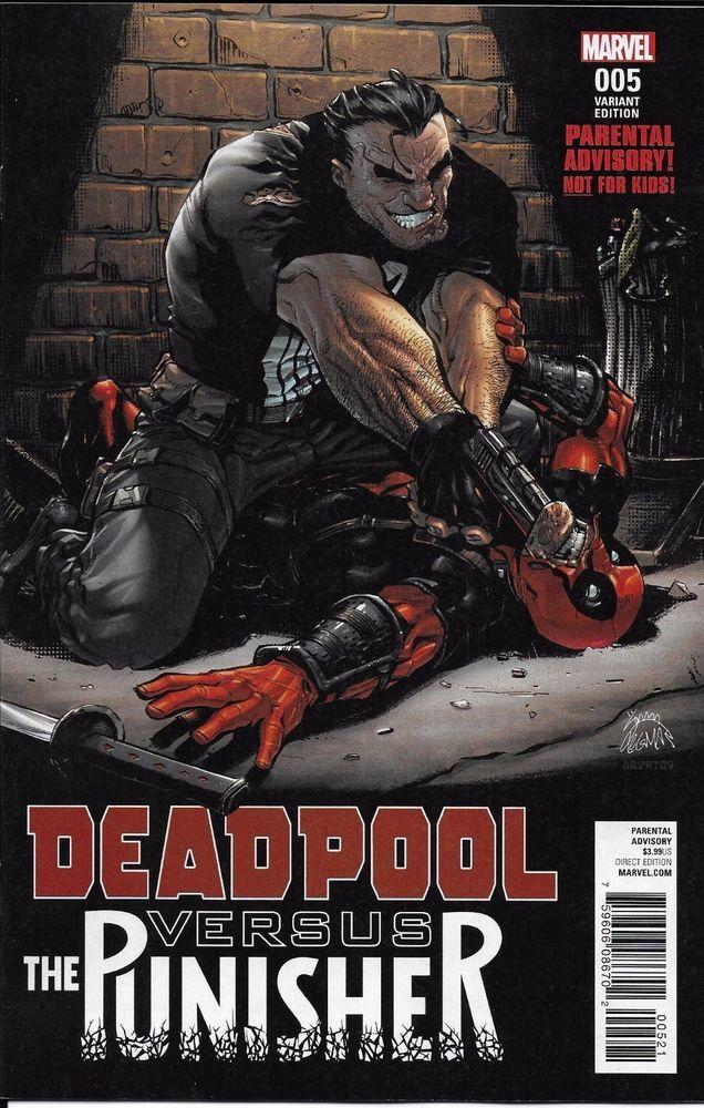 Marvel Deadpool vs The Punisher comic issue 5 Limited variant