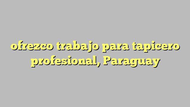 ofrezco trabajo para tapicero profesional, Paraguay