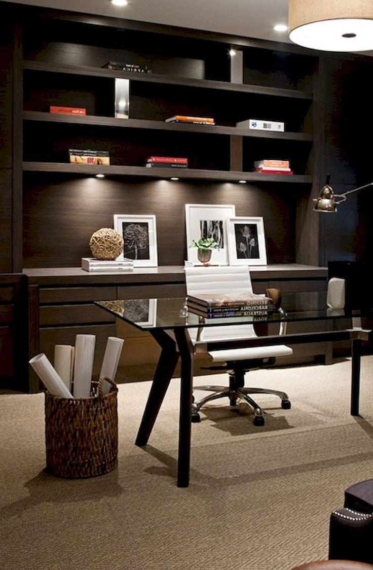 56 Stunning Moody Mid Century Home Office Decor Ideas Home Office Design Home Office Furniture Modern Office Interiors