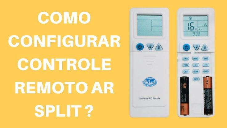 Como Configurar Controle Remoto Universal de Ar Condicionado Split?