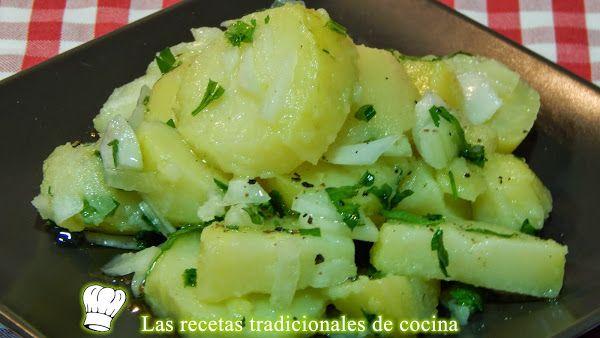 Papas aliñas o patatas aliñadas