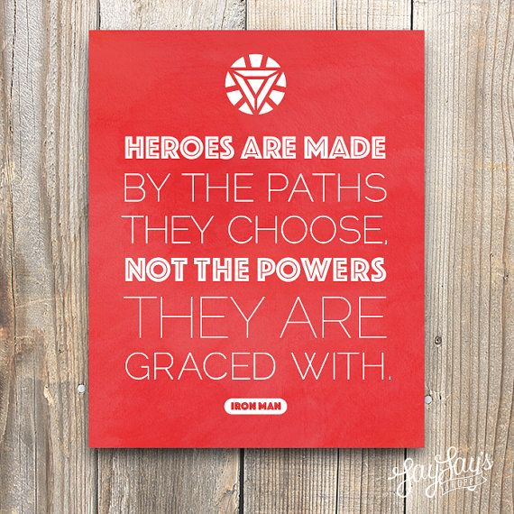 Iron Man Quote Wall Art Print Typography by LayLaysShoppe on Etsy