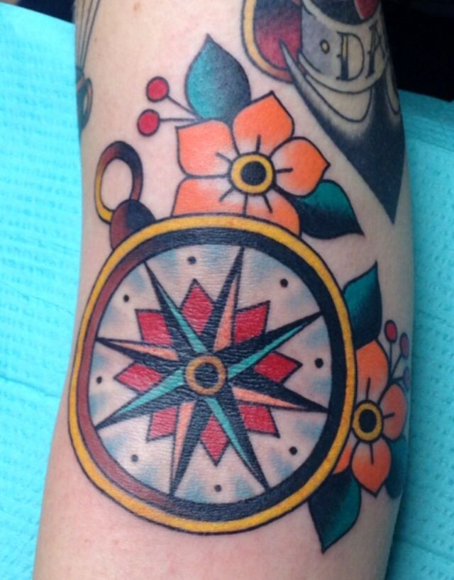 Traditional Compass Tatoo: 114 Best Images About Inked On Pinterest