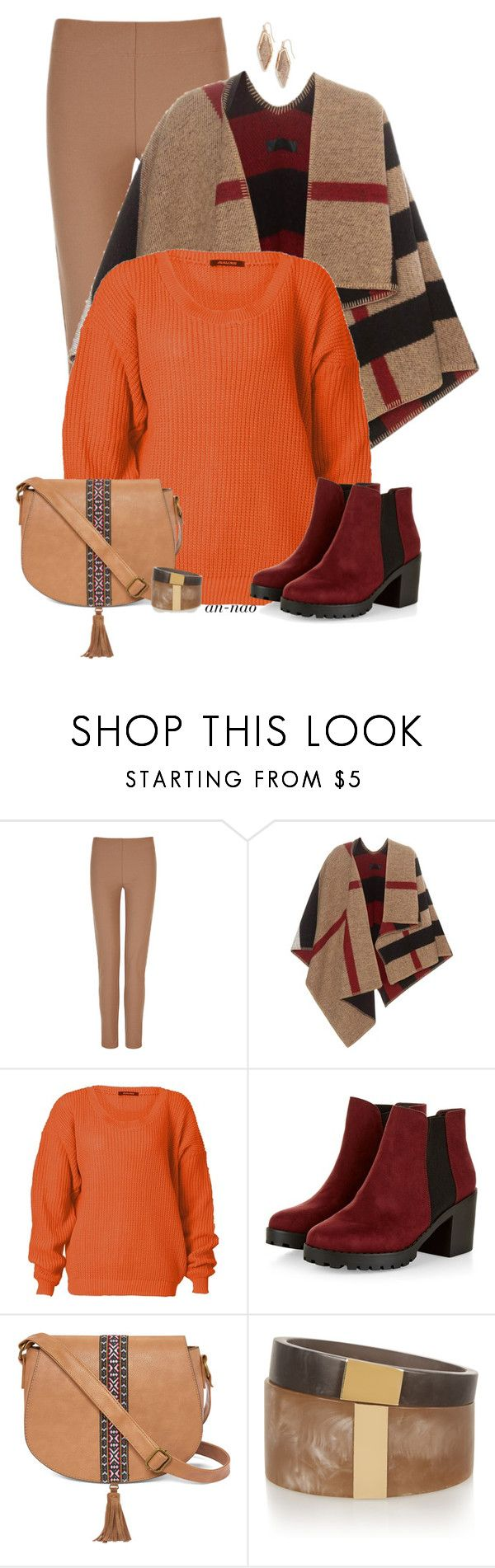 """""""Poncho for fall."""" by an-nao ❤ liked on Polyvore featuring Joseph, Burberry, T-shirt & Jeans, Isabel Marant and Kendra Scott"""