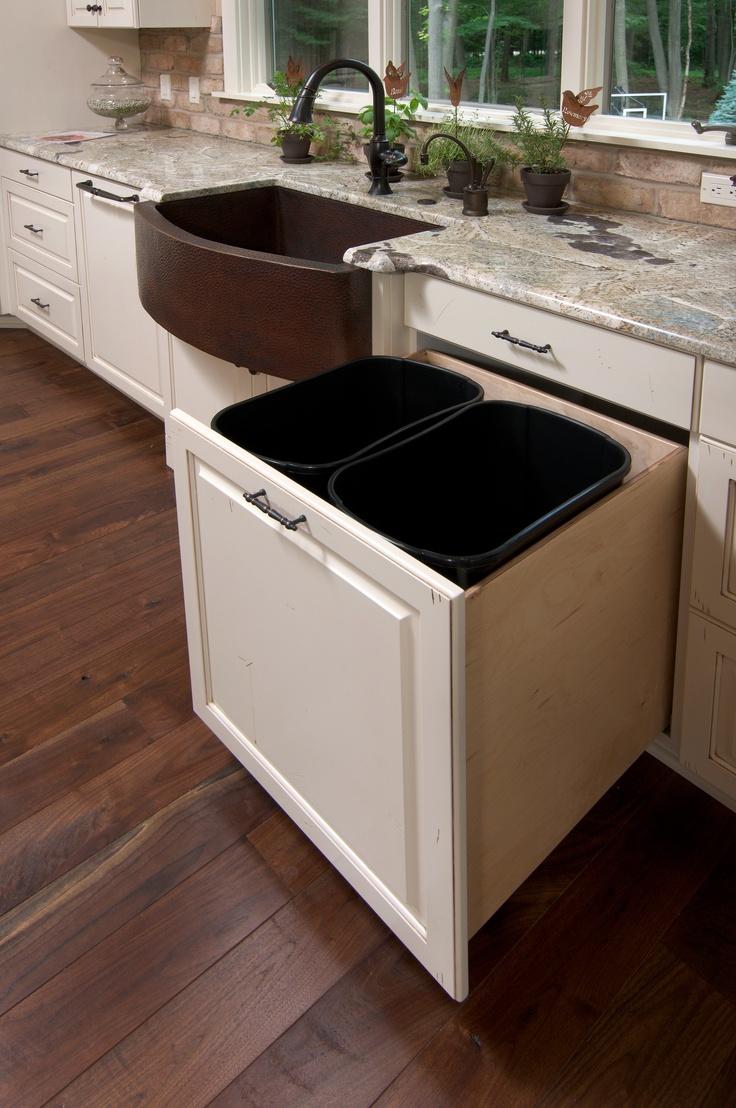 best 25 hidden trash can kitchen ideas on pinterest kitchen trash cans trash can cabinet and. Black Bedroom Furniture Sets. Home Design Ideas
