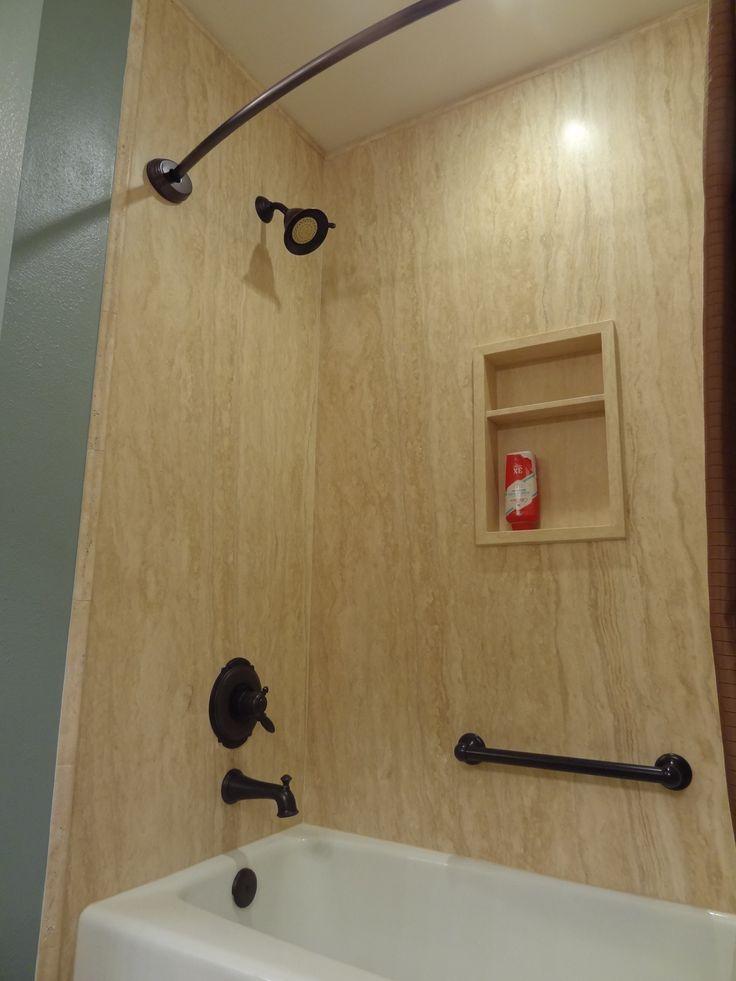 Natural Forzastone Panels In A Bathroom Remodel Project Bathroomremodel Forza Shower Bath