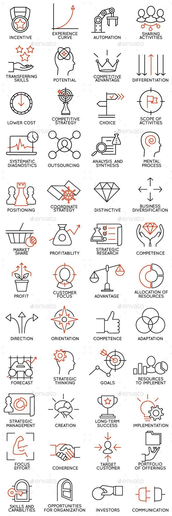Icons Set of Business Management - part 3