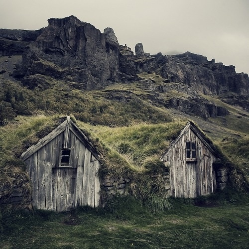Sheds in a hill