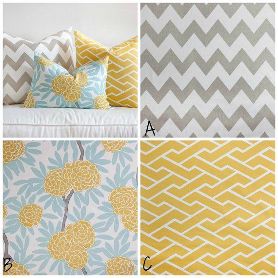 Designer Custom Baby Bedding in aqua and yellow colorway