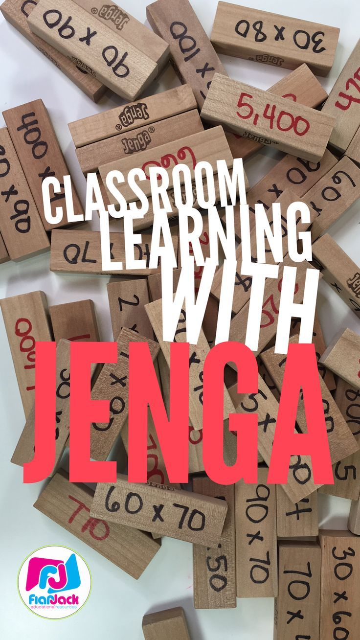 Have you tried using Jenga in your classroom centers for self-checking learning fun? It's easy to prep and super engaging! We love it!