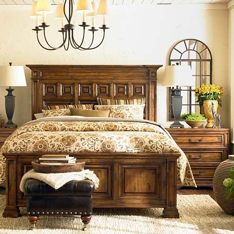 Queen Mansion Bed On Sale For $644 Original Price $1,279 Basset Furniture  Store