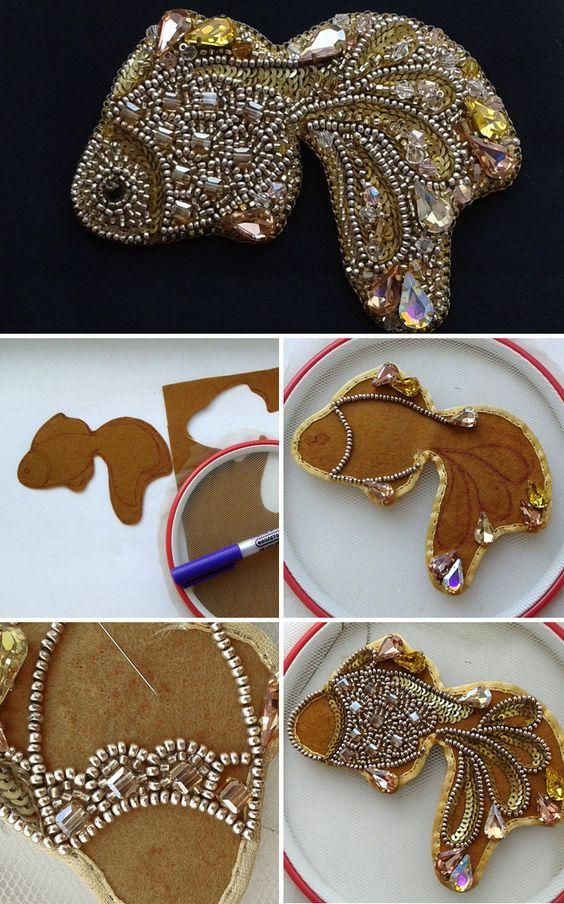 DIY Embroidered Brooch | Мастер-класс по вышивке бисером