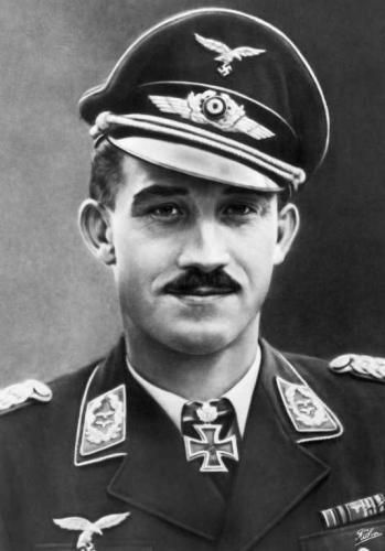 "Adolf ""Dolfo"" Joseph Ferdinand Galland (19 Mar 1912 – 9 Feb 1996) was a German Luftwaffe general and flying ace redited with shooting down five or more enemy aircraft during aerial combat.[3] He flew 705 combat missions, and fought on the Western and the Defense of the Reich fronts. On four occasions he survived being shot down, and he was credited with 104 aerial victories, all of them against the Western Allies."