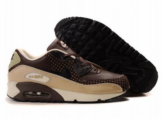 https://www.kengriffeyshoes.com/nike-air-max-90-brown-beige-dot-p-768.html Only$68.40 #NIKE AIR MAX 90 BROWN BEIGE DOT #Free #Shipping!
