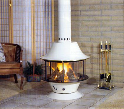 Freestanding fireplaces are not built in or attached to the wall of a room.  They - 17 Best Ideas About Freestanding Fireplace On Pinterest