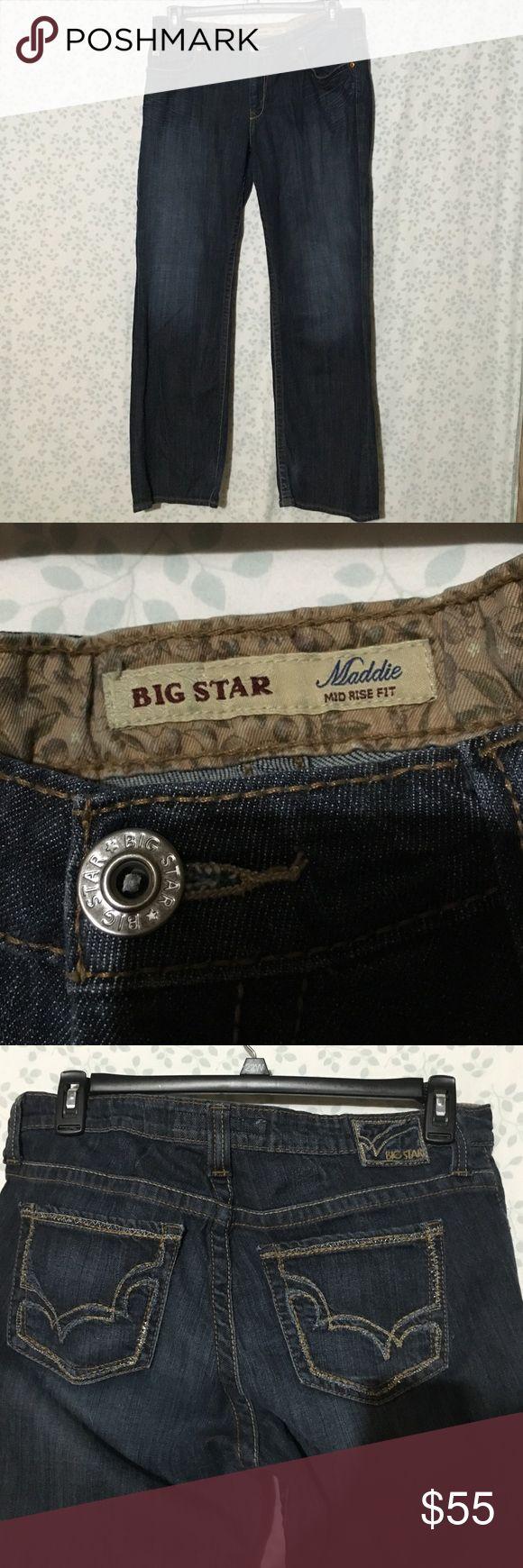 Big Star Maddie mid rise jeans Dark wash Big Star Maddie mid rise fit jeans. Excellent like new condition Big Star Jeans