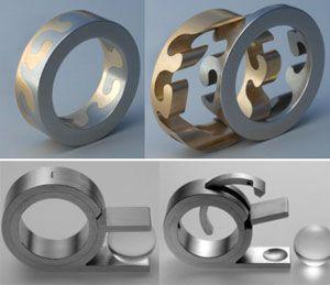 Jewelry | Jewellery | ジュエリー | Bijoux | Gioielli | Joyas | Art | Arte | Création Artistique | Artisan | Precious Metals | Jewels | Settings | Textures | Daniel Chiquet // ring engineering.. http://pinterest.com/dorothy5211/ringlooks-very-delicate/
