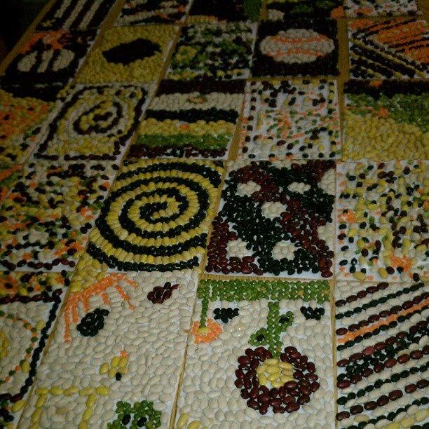 Bean and lentil mosaic