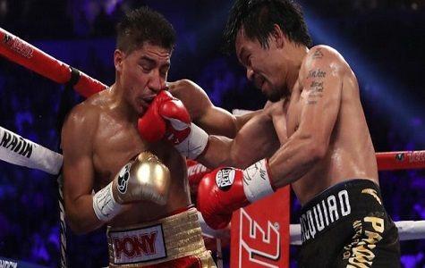 Manny Pacquiao ganó el sábado por decisión unánime al estadounidense de origen mexicano Jessie Vargas, a quien arrebató el título welter