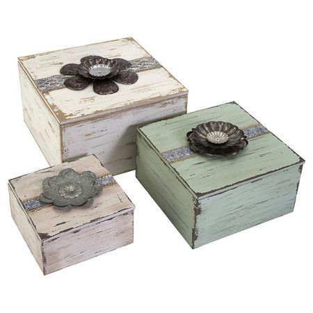 Found it at Wayfair - Bennett Flower 3 Piece Top Box Set
