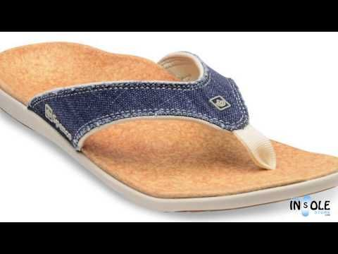 Spenco Dark Navy Washed Denim Yumi Sandals for Men
