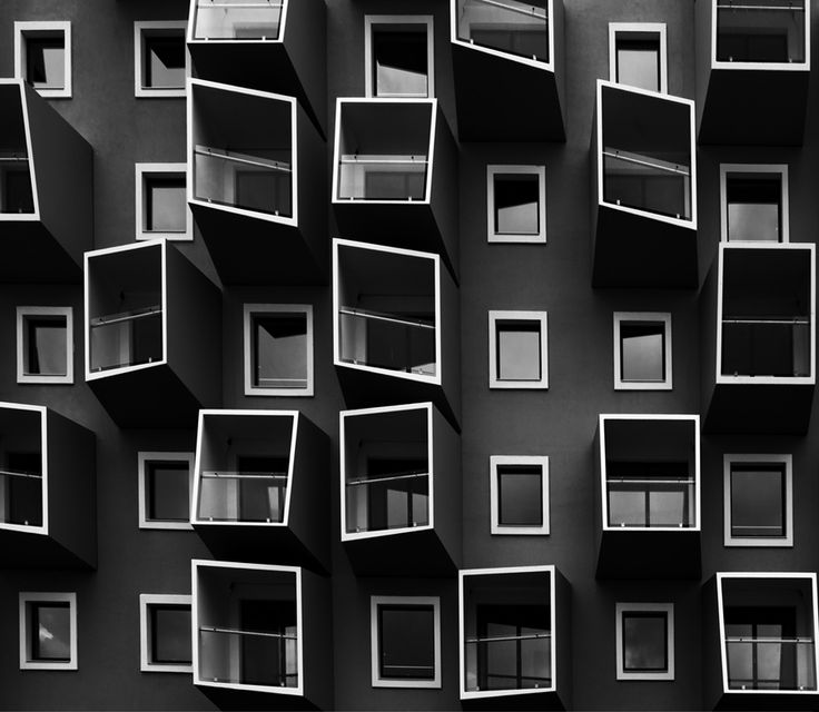 Living in boxes II by Kent Mathiesen, via 500px - I don't know why, but I find this image of a Copenhagen building endlessly fascinating.  Perhaps it is the juxtaposition of the skewed and distorted windows against the precise, perfect rectilinearity of the more conservative windows.  It is almost as if they were having a debate on the merits of experimentation and doing your own thing, regardless of what anybody thinks.