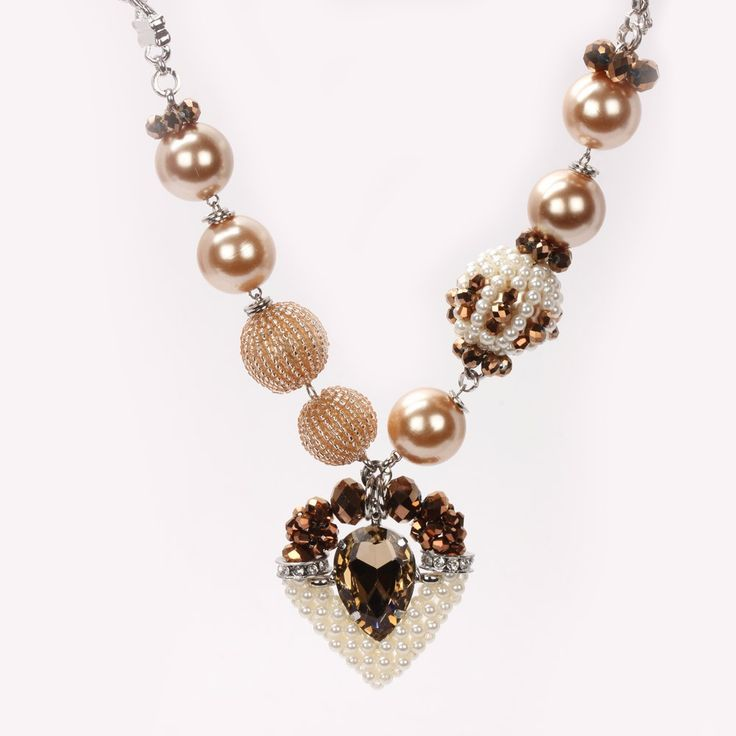 This beaded and crystalloid heart neckpiece is just made for creating an awesome look for you. Flawlessly designed to perfection, this neckpiece is the first choice of all fashion conscious girls. Wear this beaded and crystallic heart neckpiece with beaded balls and looped chain with any of your matching dresses and give a fresh look to your persona.   Visit for buy this Nice Neckpiece:- http://khoobsurati.com/khoobsurati/crystal-pendant-honeyloop-neck-string-brown