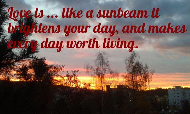 LOVE IS ... Verse #love #alanjporterart #kompas #art #thoughts #trees #sun #clouds #nature