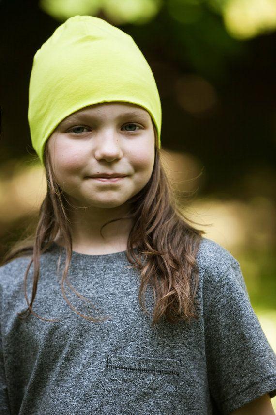 Beanie cappello per bambini / lime / organic cotton by SISSorganic #italiasmartteam #etsy
