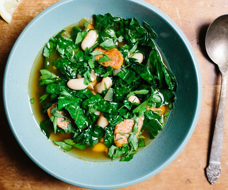 You have a can of beans? You've got a meal. In this kale soup recipe, they take the place of traditional dried beans.