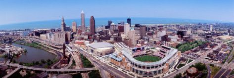 Aerial View of Jacobs Field, Cleveland, Ohio, USA Photographic Print by Panoramic Images at AllPosters.com