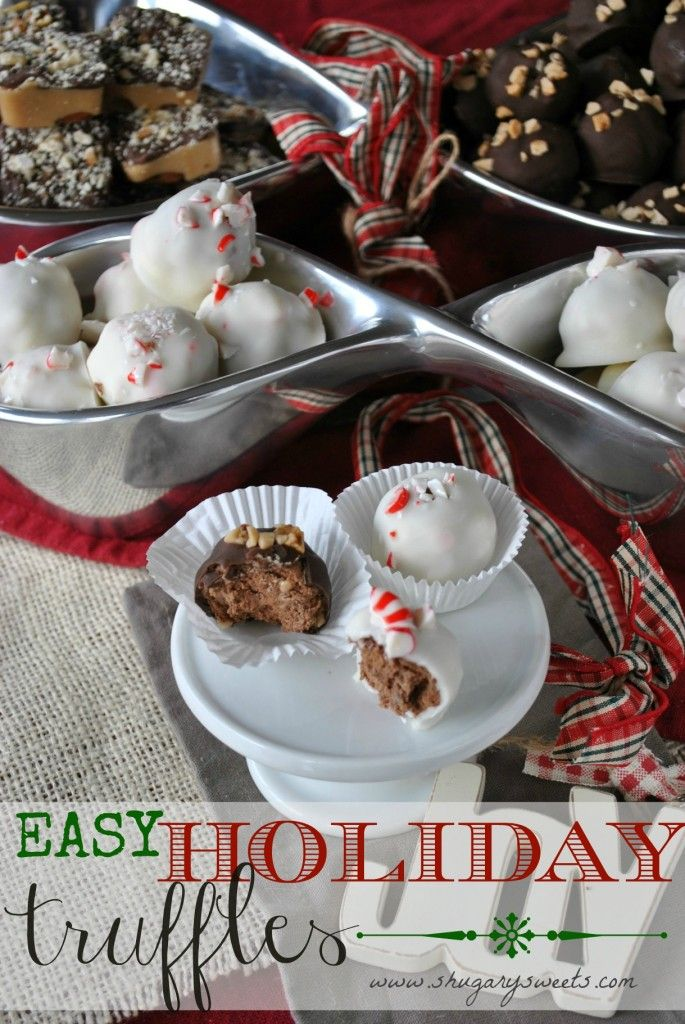Holiday Truffles- made with only 4 ingredients
