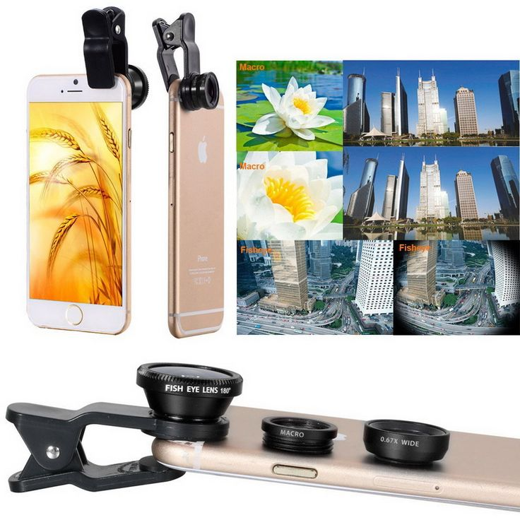 Mobile Phone Lens  3 in 1 Wide Angle Macro Fisheye Lens Kit   Clip Smartphone Mobile Phone lenses Fish Eye for iPhone 6 6s 7 s Plus Camera Lentes * AliExpress Affiliate's Pin. Click the VISIT button to enter the website
