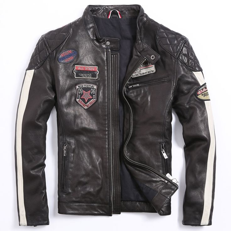 Find More Leather & Suede Information about Men's Motorcycle Jacket Men's…