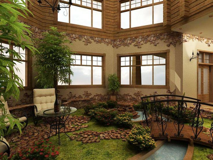 Картинки по запросу зимний сад в доме