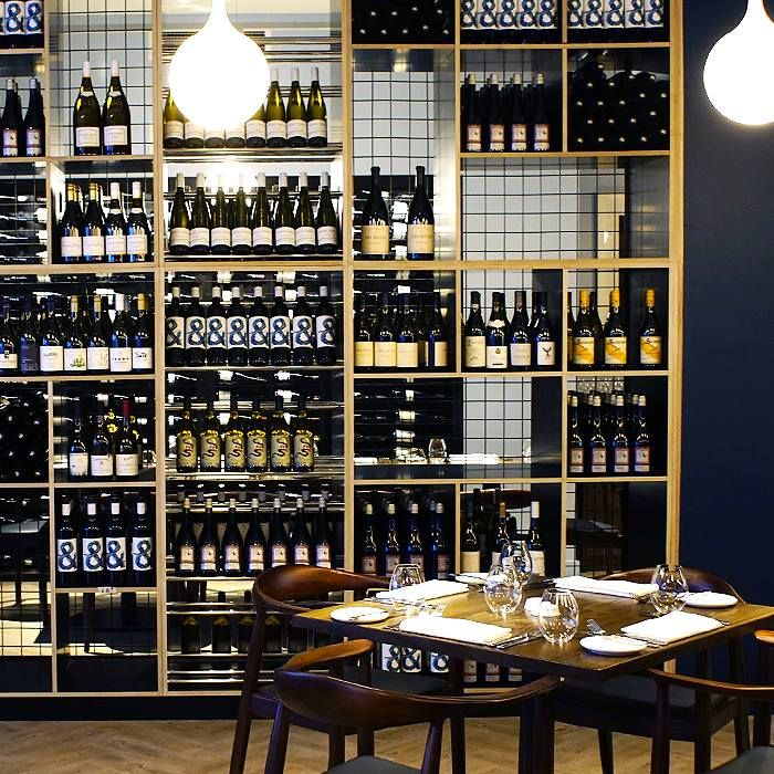 A recent installation for BFG at Meat Fish Wine restaurant in Auckland #restaurant #shelving #custom #wood