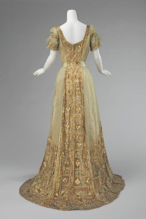 Back view, 1910, Silk Ball Gown