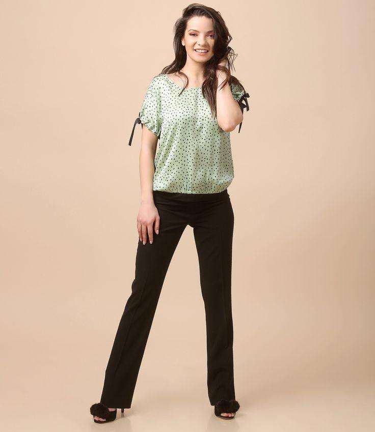 Smile! Life is beautiful! Spring17   YOKKO #blouse #green #trousers #casualoutfit #fashion #spring17 #yokko