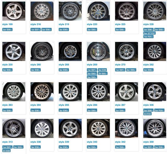 PCD BMW wheels -Wheel-fitment.com | PCD, Offset, Center ...