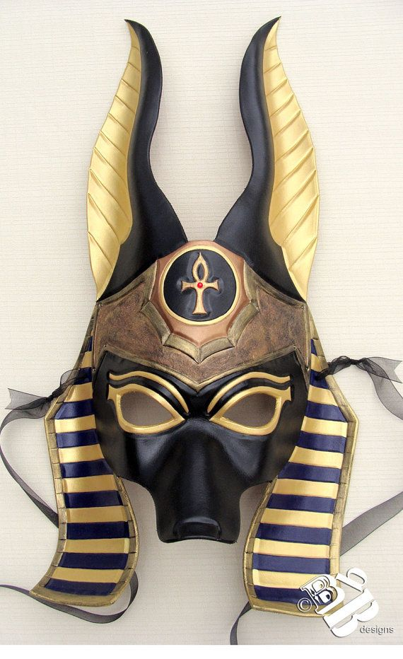Gorgeous ritual masks from B3leatherdesigns.