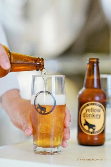 Hot #September temperatures, time for a cold Santorinian beer! (See more at http://www.gastronomysantorini.com)