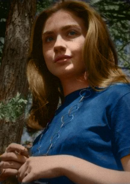 Hillary Clinton then....