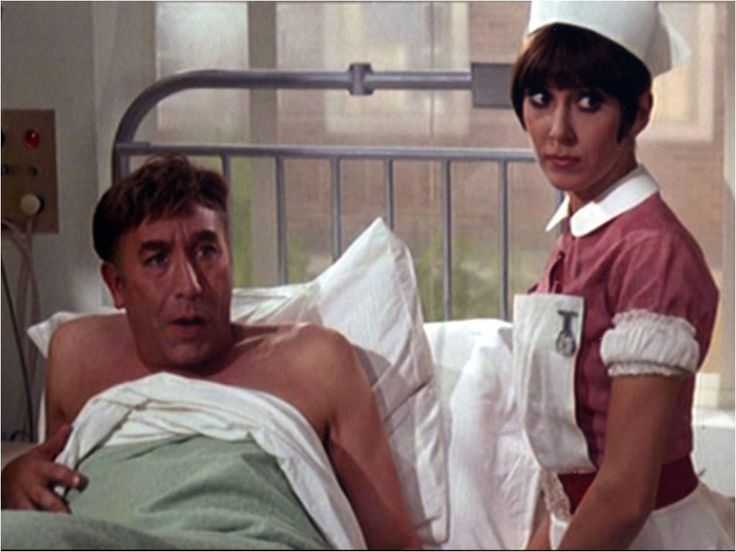 Anita Harris with Frankie Howerd in Carry On Doctor